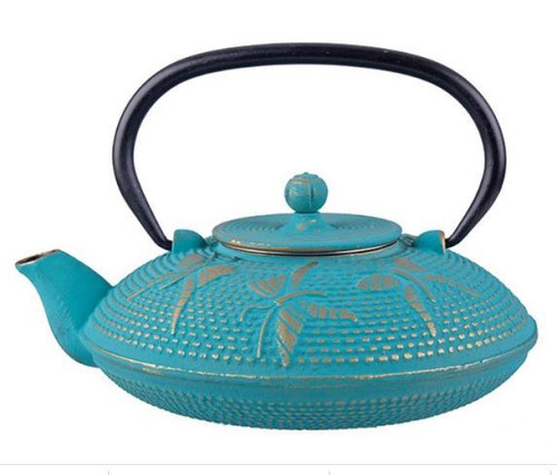 Teapot Turquoise Butterfly Cast Iron 800ml
