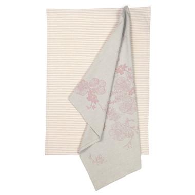 2 Pack Rose Garden Tea Towel