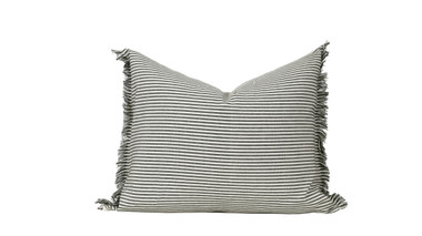 """Abby Stripe Olive Green Pillow 20"""" x 16"""""""
