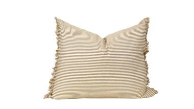 """Abby Stripe Mustard Pillow 20"""" x 16"""""""