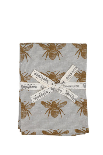 Honey Bee Napkin Mustard Set 4