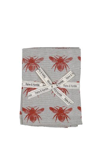Honey Bee Napkin Terra Cotta Set 4