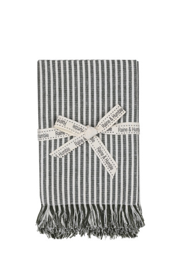 Abby Stripe Napkins Olive Set 4