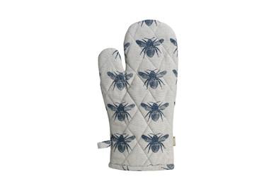 Honey Bee Oven Glove Prussian Blue