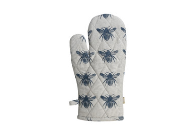 Honey Bee Oven Glove Prussian Blue