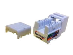 Dynacom 10606AK-WH Cat6A Data KwikJack