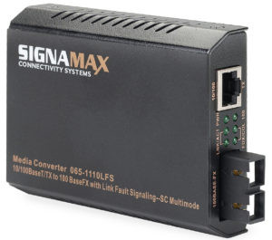 Signamax FO-065-1110 10/100BaseT/TX to 100BaseFX Media Converter SC/MM, 2 km Span