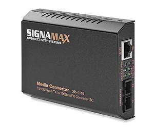 Signamax FO-065-1100 10/100BaseT/TX to 100BaseFX Media Converter ST/MM, 2 km Span