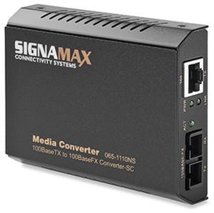 Signamax FO-065-1120 100BaseTX to 100BaseFX Media Converter SC/SM, 15 km Span