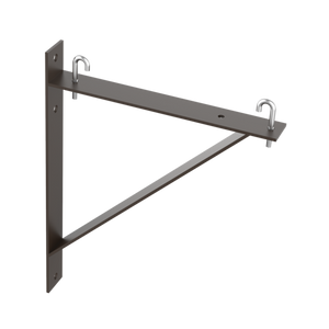 Hoffman - LTSB12BLK - Triangle Support Bracket Kit - Black, Steel