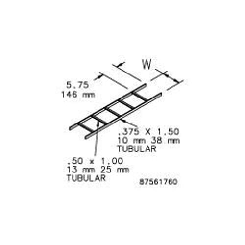 Hoffman LSS12BLK Ladder Rack Straight Section
