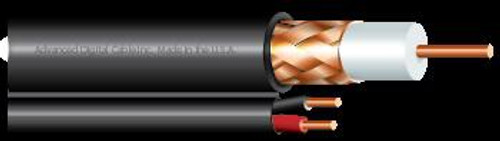 Advanced Digital Cable 9912 RG59-U 95% BC Braid w 1pr 20AWG 18-2