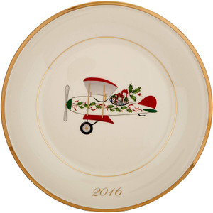 Lenox  Annual 2016 Holiday Airplane  Accent Plate New