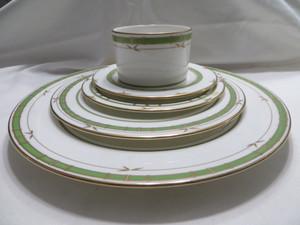 Lenox  Kate Spade Pompano Point  Green 5PC China Dinnerware