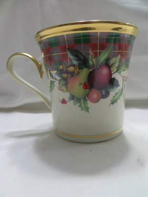 Lenox  Holiday Tartan Coffee  Mug New