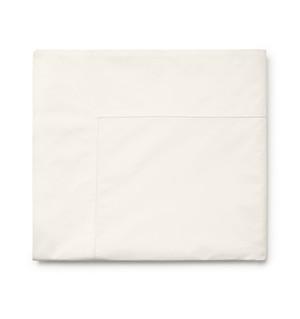 Sferra Isabella 500C Long Staple Cotton Crisp Percale Queen Flat Sheet Ivory