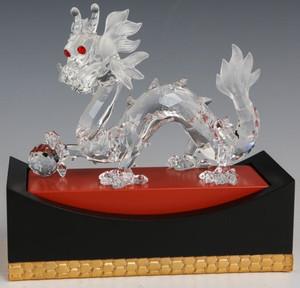 Swarovski Crystal Dragon Fabulous Creatures Red Eyes  Mint No Box COA