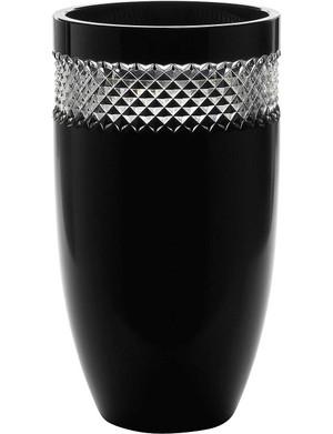 Waterford Crystal John Rocha Black Cut Vase 30cm 12 In