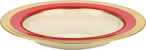 Lenox Embassy  Red Gold  Rim Pasta  Soup Bowl  New