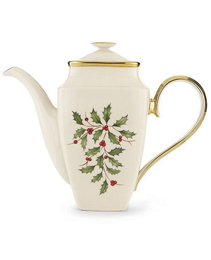 Lenox Holiday Square Coffeepot with Lid