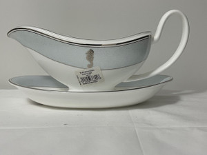 Waterford Seahorse Ocean Gravy Gravy Sauce Boat And Stand  Set