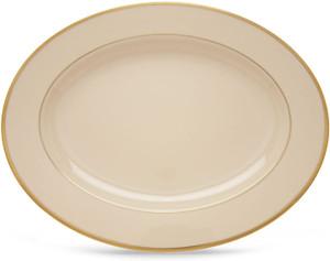 Lenox Presidential Tuxedo Gold Banded 16 Inch Platter
