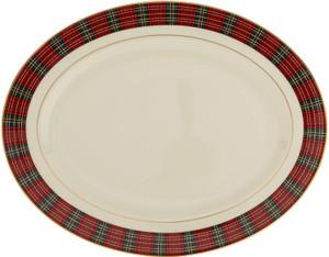 Lenox Winter Greetings Plaid 16 Inch Platter
