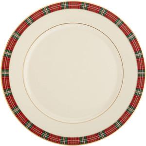 Lenox Winter Greetings Tartan Plaid Dinner Plate