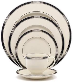Lenox Hancock Platinum Ivory Dinnerware Service for 8