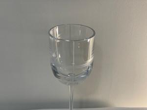 Calvin Klein Criss Cross Crystal Water Goblet 9IN