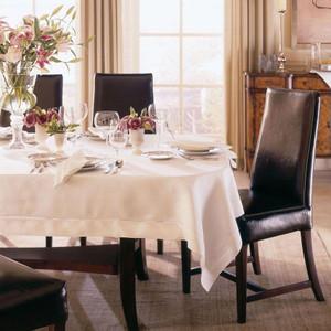 """Sferra Classico 418  Linen Tablecloth White 88""""  x 140""""  New"""