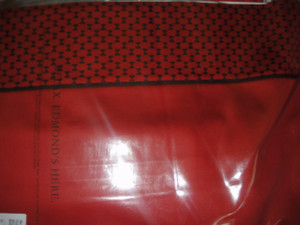 Frette Edmond Pickfair King Comforter and Sheet Set with Regular Shams Red New