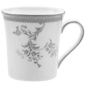 Vera Wang Vera Lace Imperial Platinum  Breaker Coffee Mug (1) by Wedgwood
