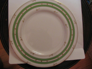 Kate spade  Pompano Point Green 9 inch Accent Plate by Lenox China New