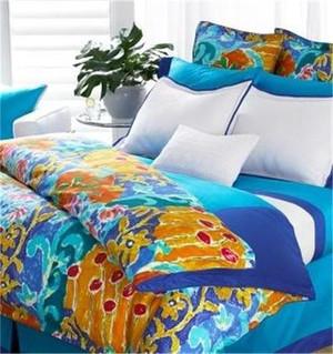 Ralph Lauren Isle Capri Turquoise Blue Twin Duvet Cover Set New
