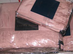 Ralph Lauren Millicent Antique Pink Queen Silk Duvet Cover Set