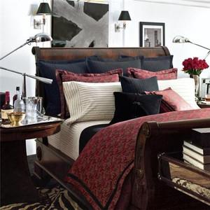 Ralph  Lauren Bleeker Street Red 11P Queen Comforter Set New
