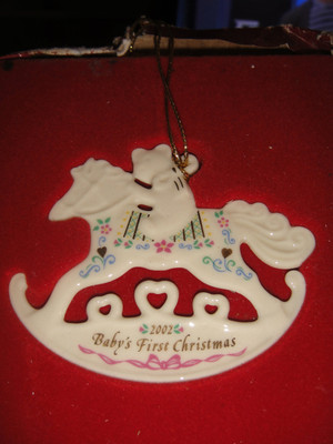Lenox 2002 Annual Baby's First Christmas Ornament