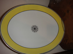 """A. Raynaud et Cie Limoges Ceralene """"Directorie""""  12.5 IN Oval Platter"""