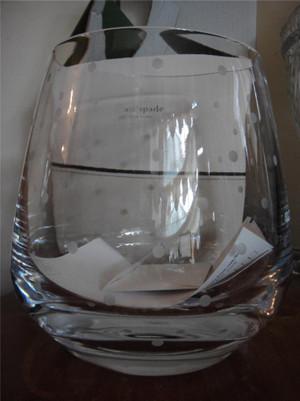 Lenox Kate Spade Larabee Dot Euro Ice Bucket Crystal Glass New