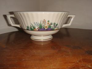 Lenox Rutledge Vintage 2 Handle Cream Bowl with Gold Backstamp