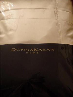 Donna Karan Home Modern Classics White Gold 100% Silk Full Queen Quilt Coverlet Set