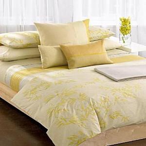 Calvin Klein Moso Leaves Endive Queen Comforter Italian Cotton Set