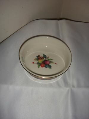 holiday tartan fruit bowl