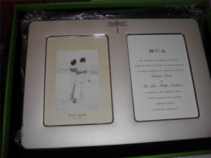 Kate  Spade June Lane double Invitation Picture Frame New in Box