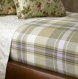 Lauren by Ralph Lauren Yorkshire Rose King Purchased Blanket - Sage Plaid