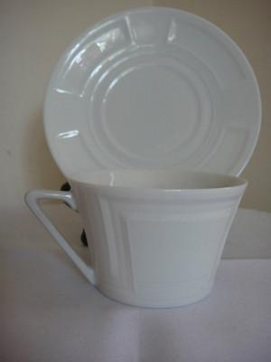 Philippe Deshoulieres Celtika White Cup & Saucer New