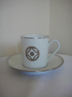 Menard de Noblat Charleston Platine Platinum Demitasse Cup & Saucer Expresso