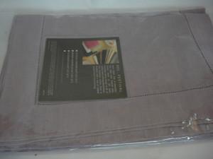 "Festival 902 Pure Linen Table Runner Grey by Sferra 21' x100 """