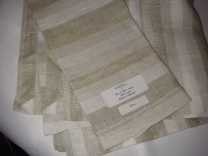 Ascot Olive Four Hemstitched Dinner Linen Napkins by Sferra